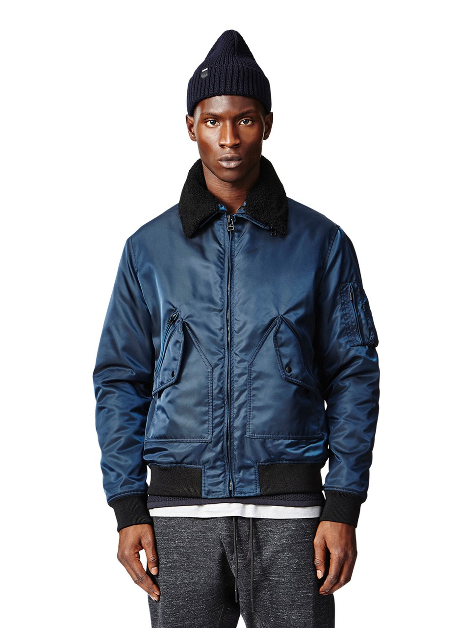 Isaora G1 Aviator Italian Made Jacket in Navy