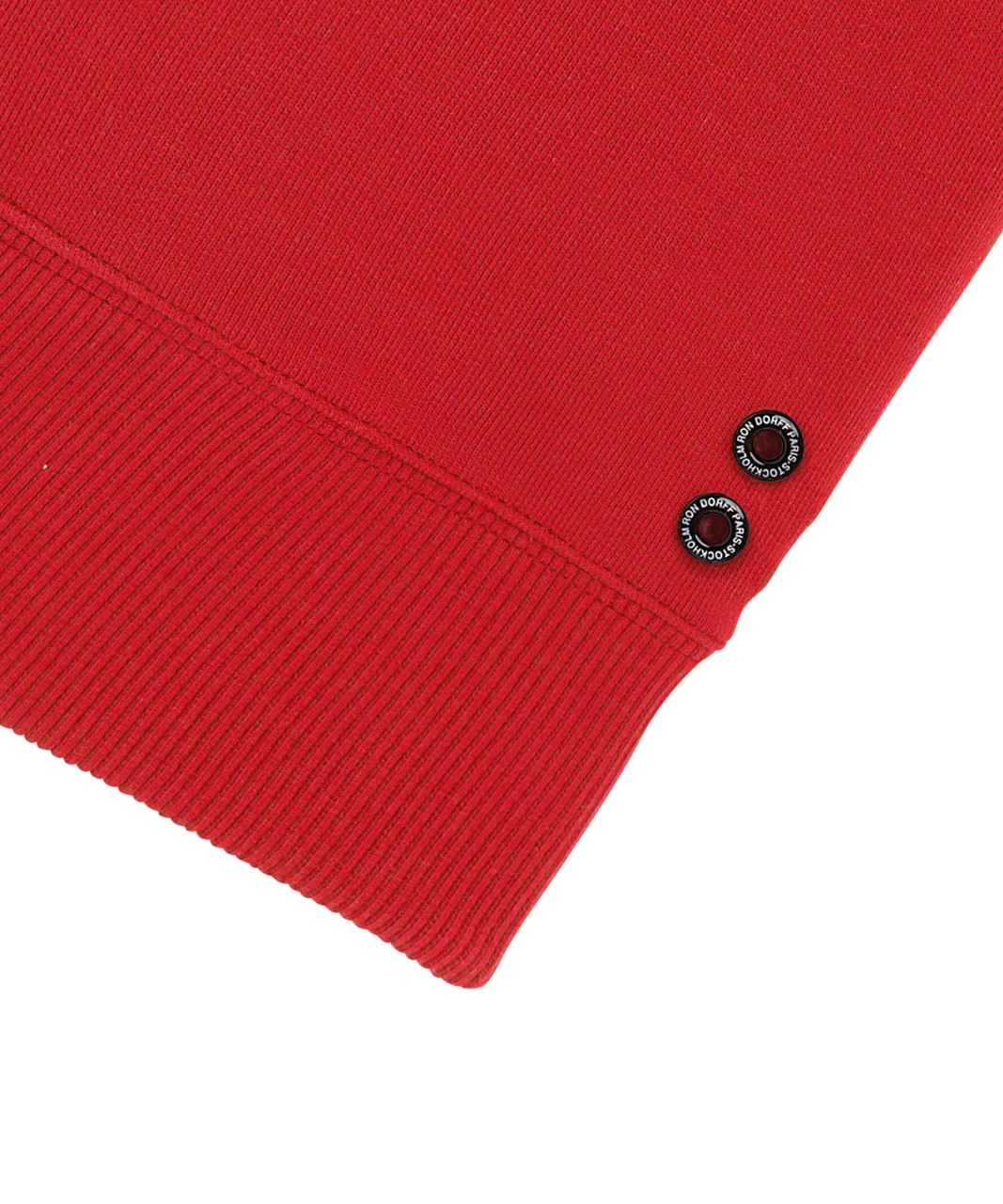 Ron Dorff Short-sleeved sweatshirt Puff Eyelet in Mars Red