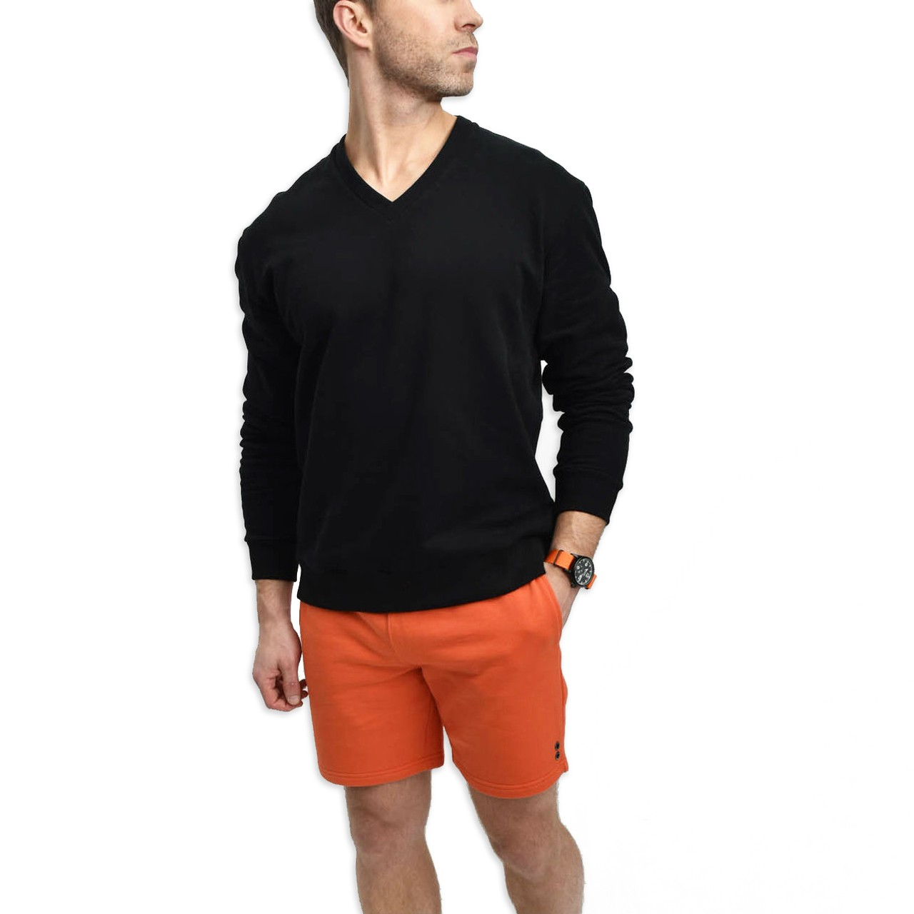 The White Briefs Salve v-neck sweater in black