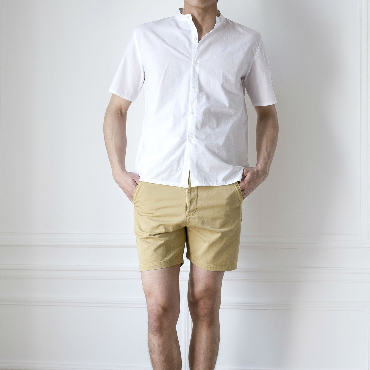 The White Briefs Celt Shorts in camel