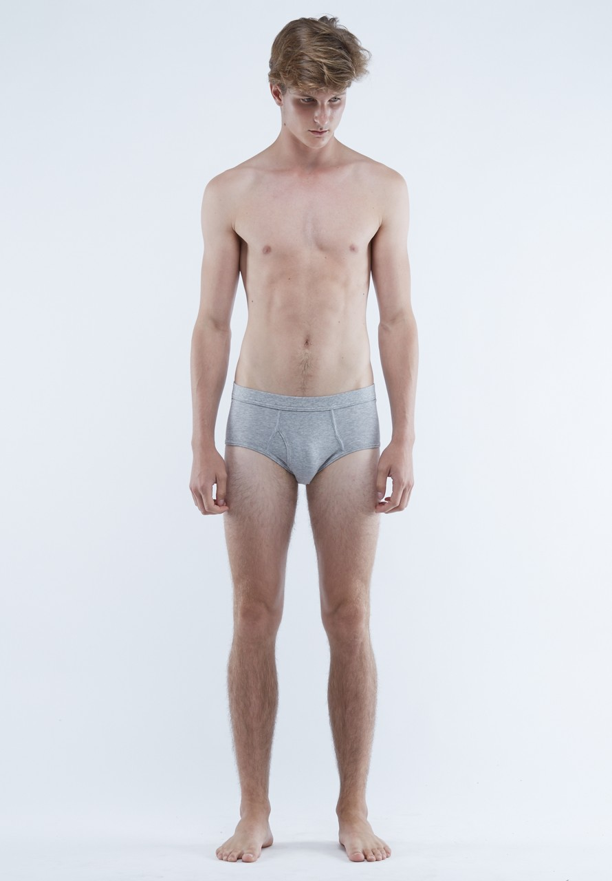 The White Briefs Platan Classic Briefs Grey