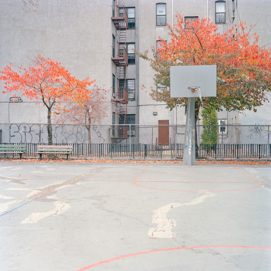The Quiet Beauty of Urban Basketball Courts