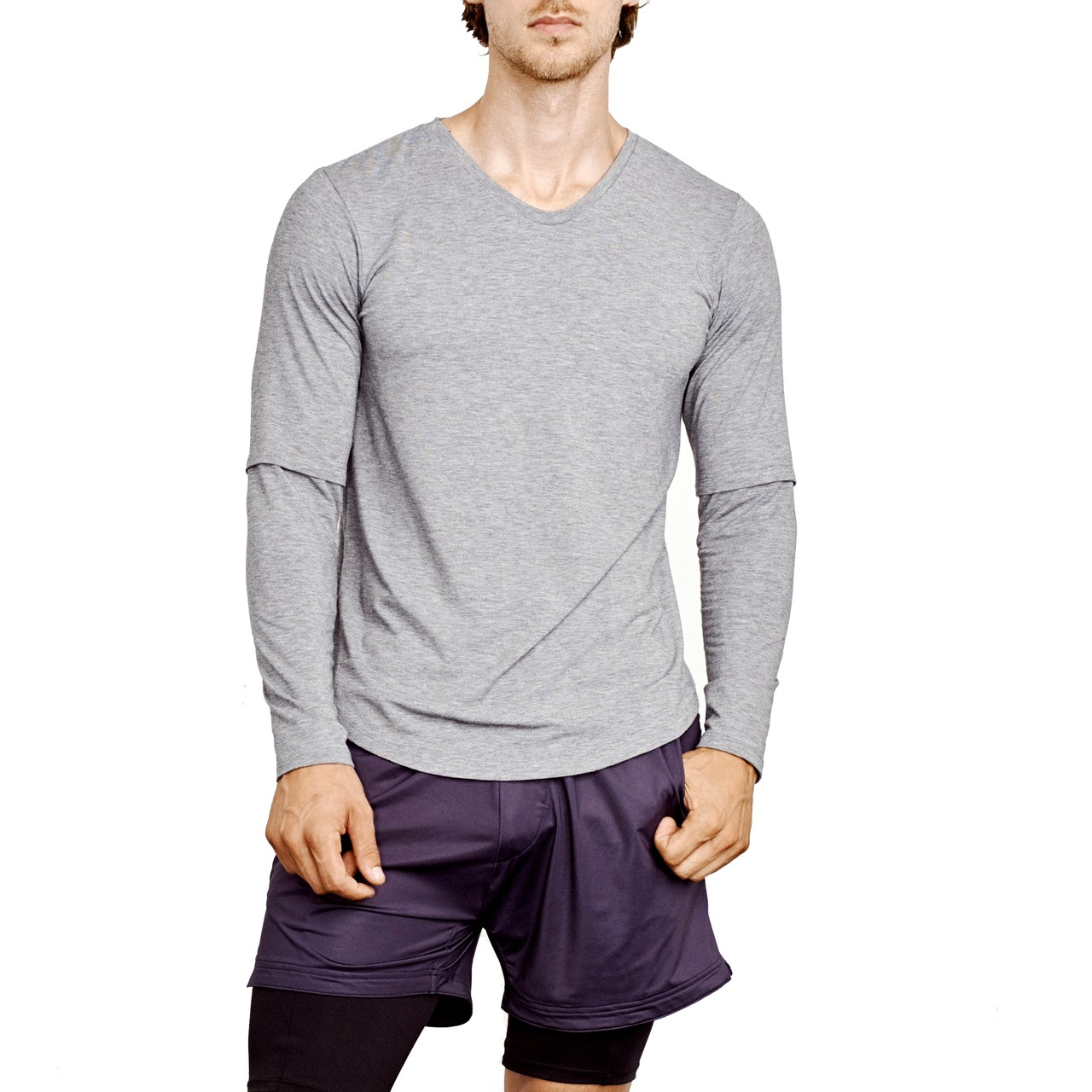 Eysom Foundation L/S Scoop Tee Heather Grey