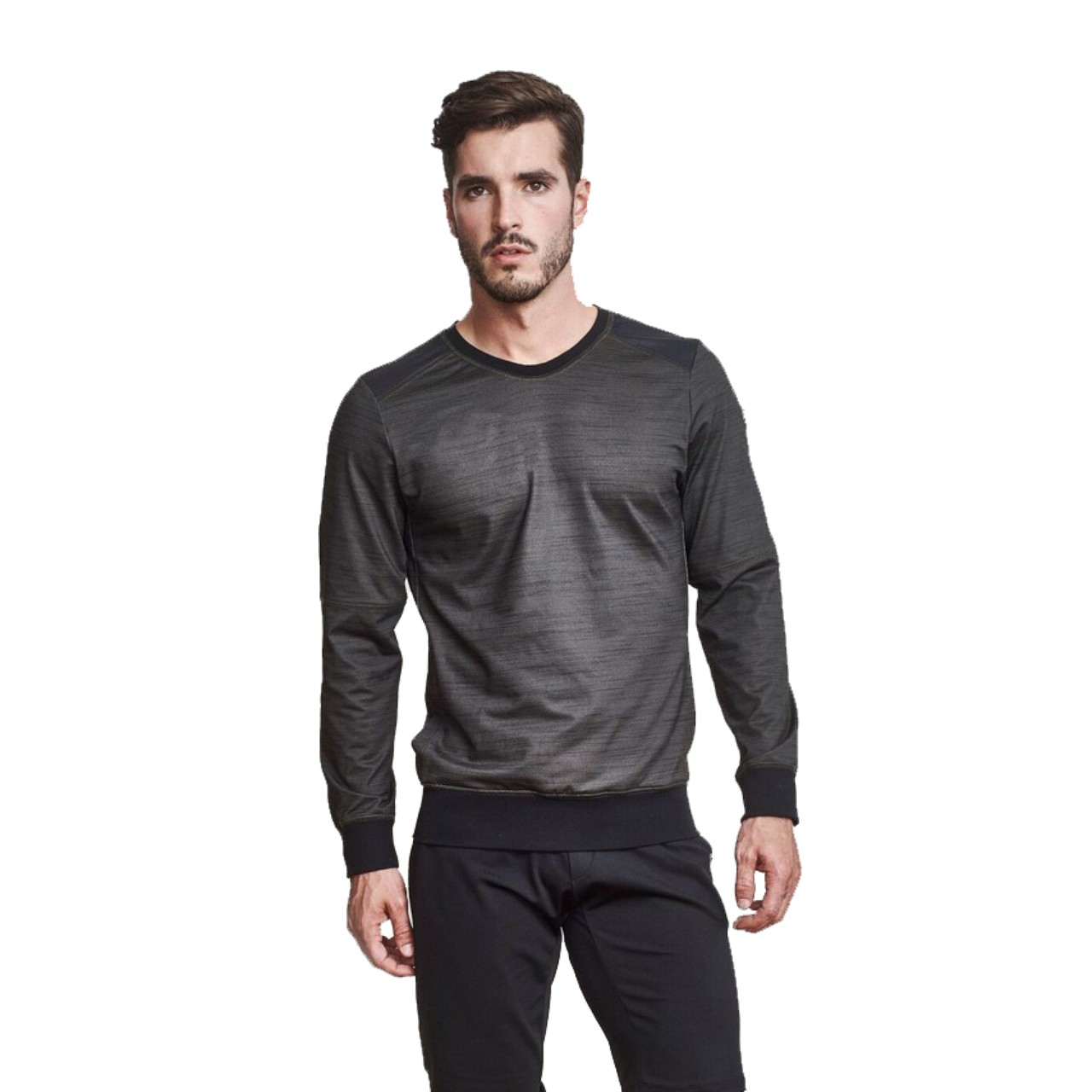 EYSOM The Refined Sweatshirt in Olive Green
