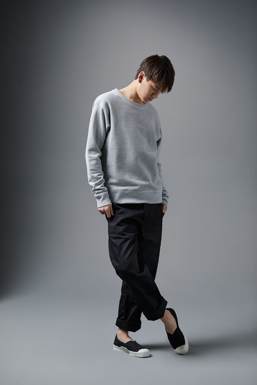 Spalwart Team Crew Sweater in Grey Melange