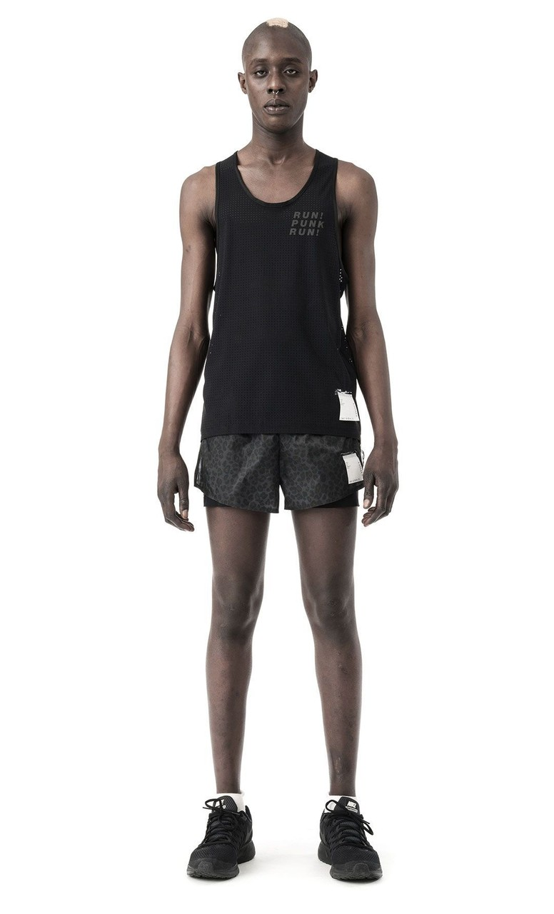 Satisfy Strummer Race Singlet in Black