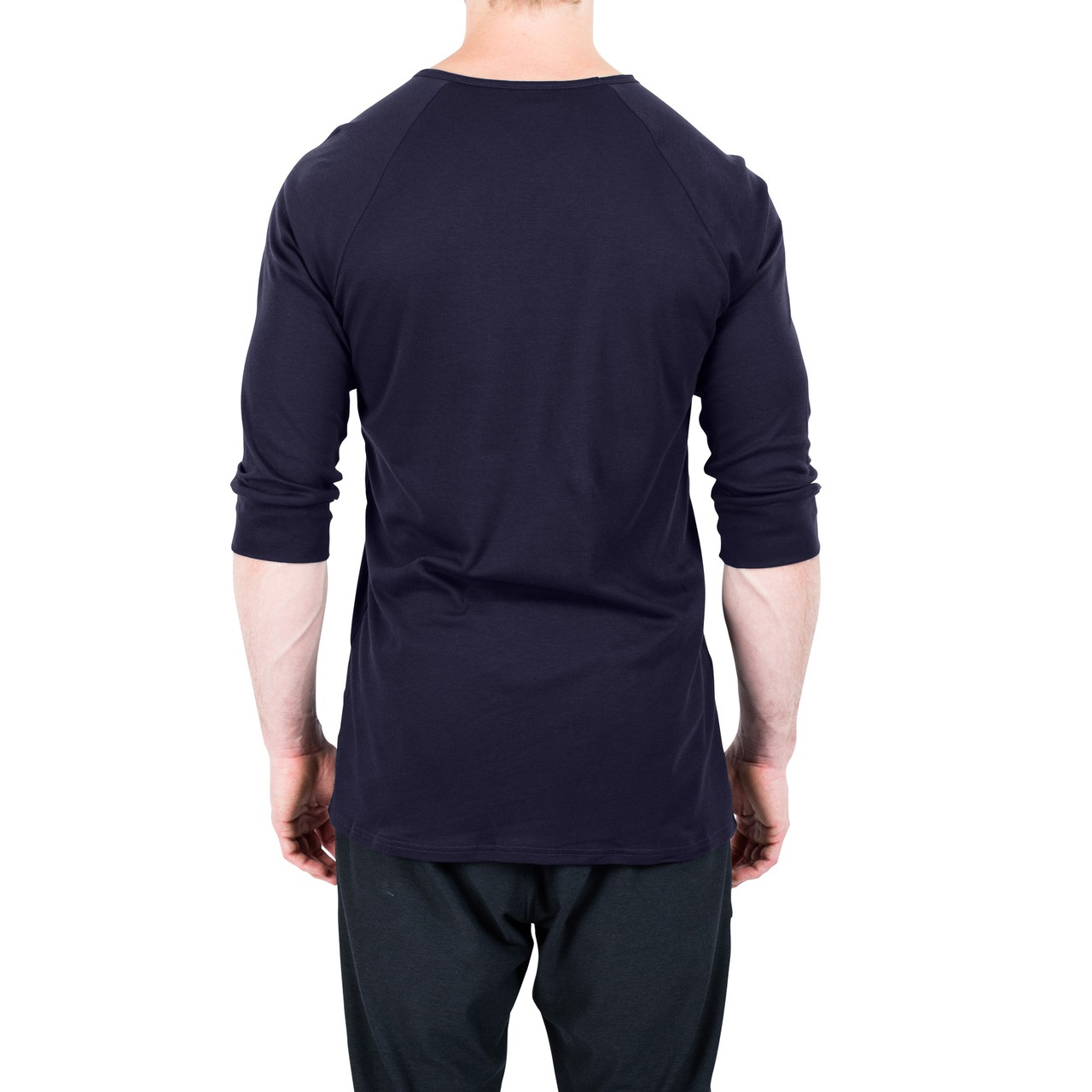 The White Briefs Anchovy 3/4 Sleeve T-Shirt Dark Navy