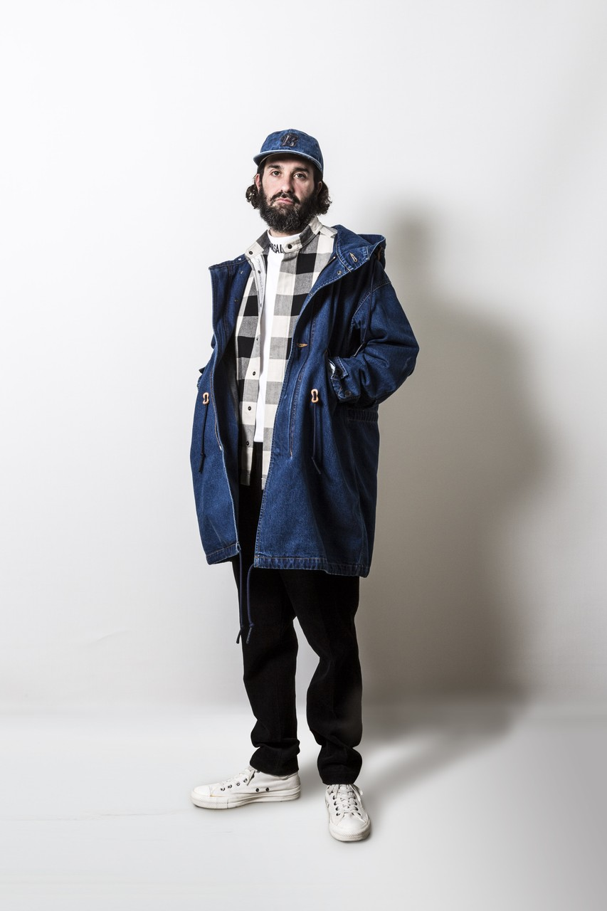 Bluey Denim Mods Coat in Sax