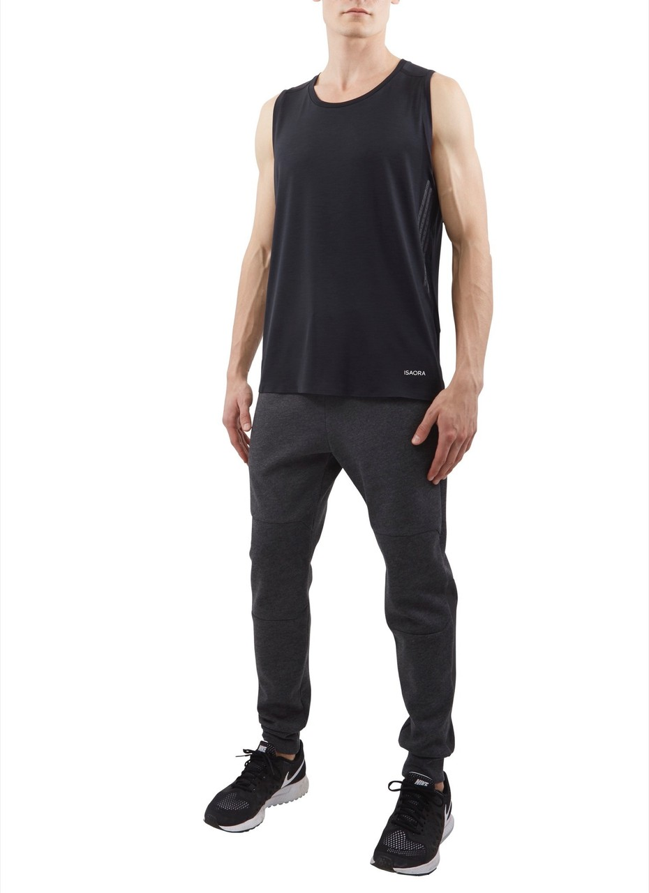 Isaora Micro-knit No Sew Tank Top Black
