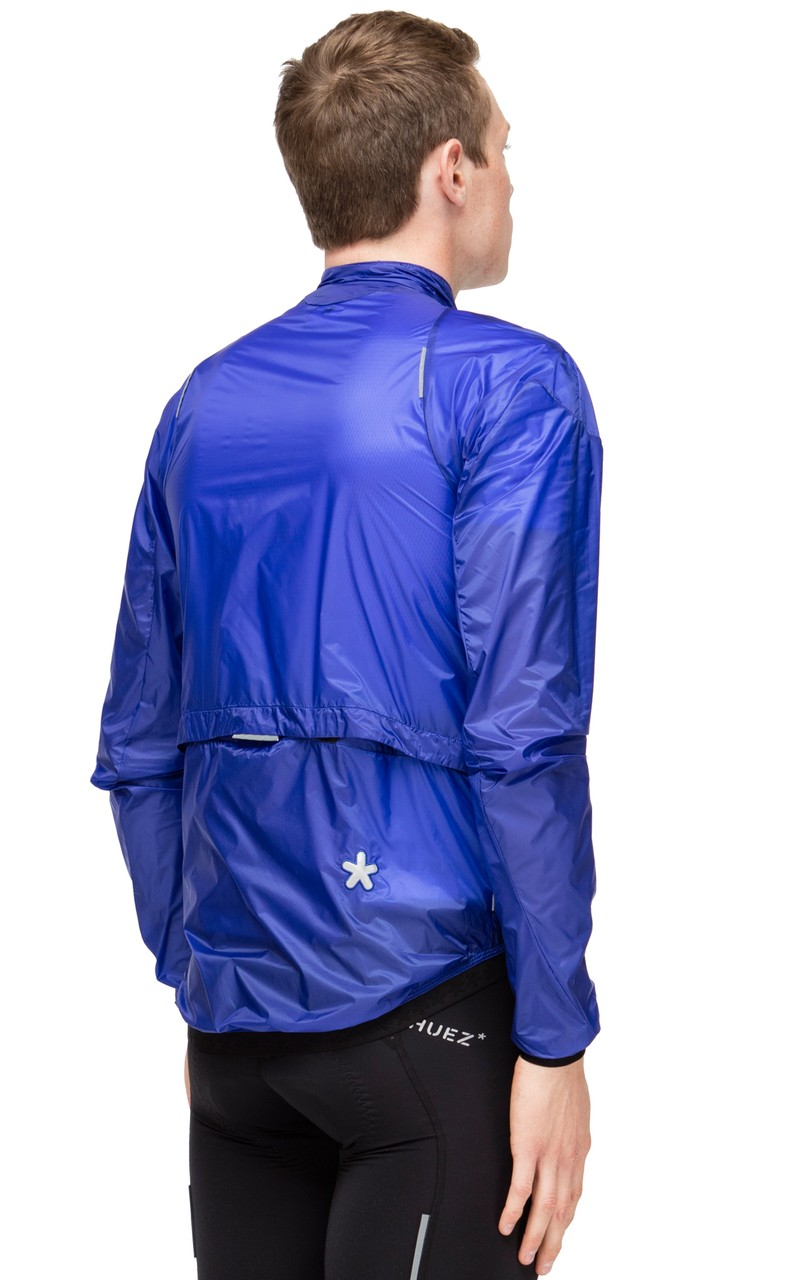 Huez* Starman Cycling Wind Jacket in Klein Blue