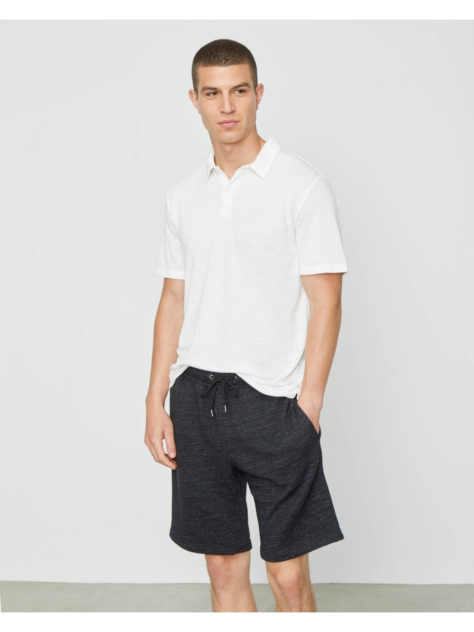 Onia Saul Terry Short in Solid Black