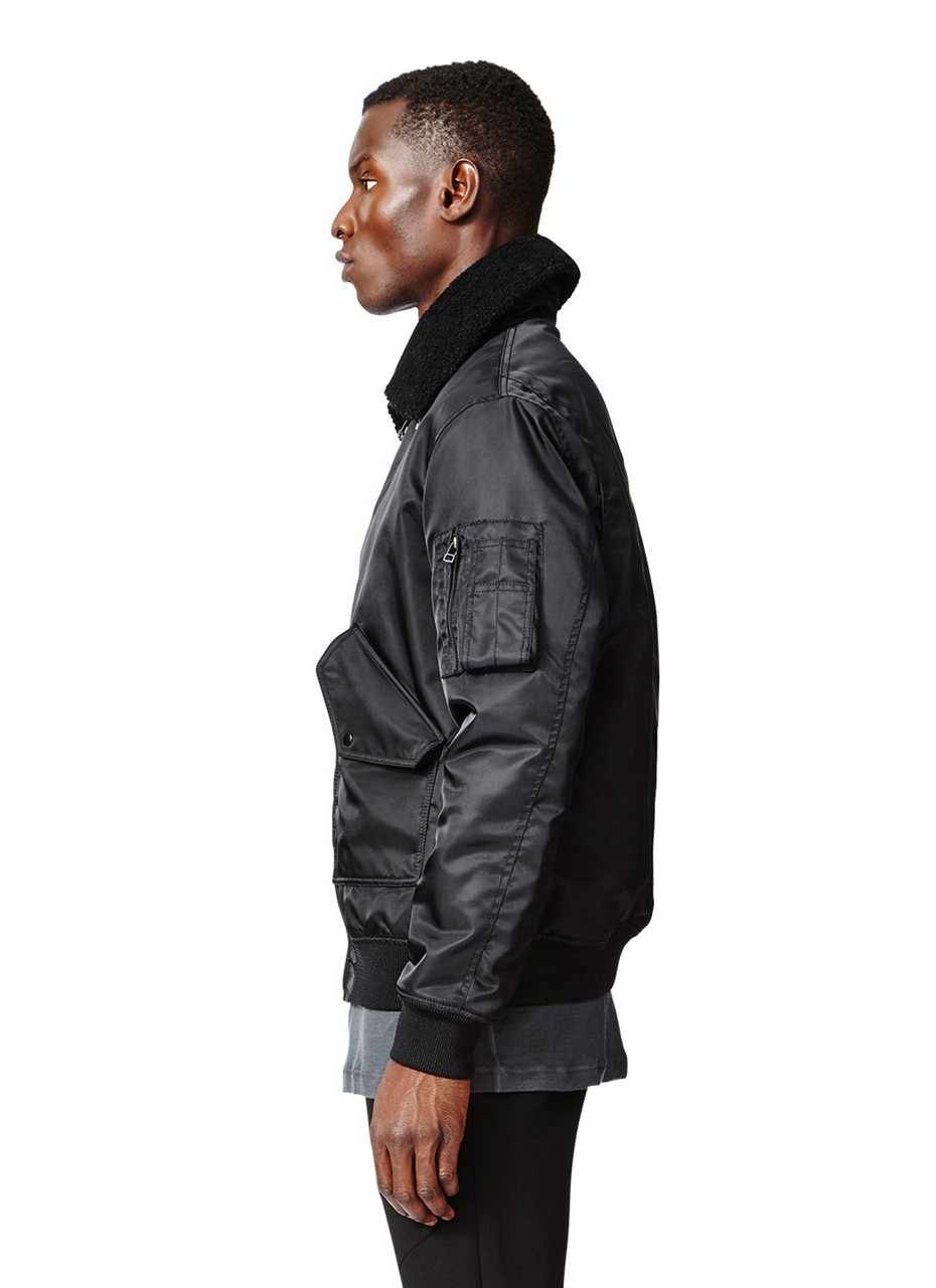 Isaora G1 Aviator Italian Made Jacket in Black