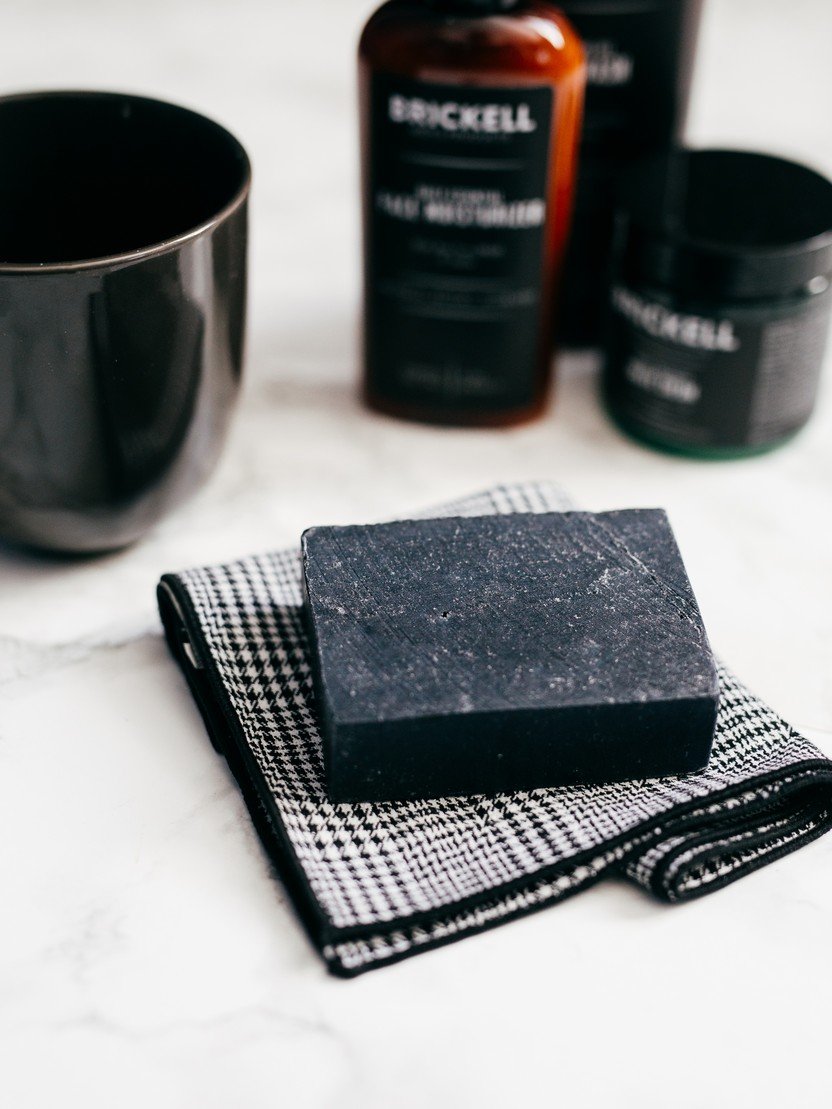 Brickell Purifying Charcoal Soap Bar For Men