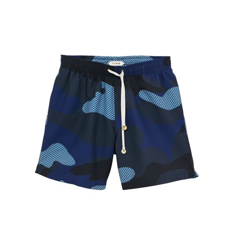 Long Prep Trunks Camo Blue