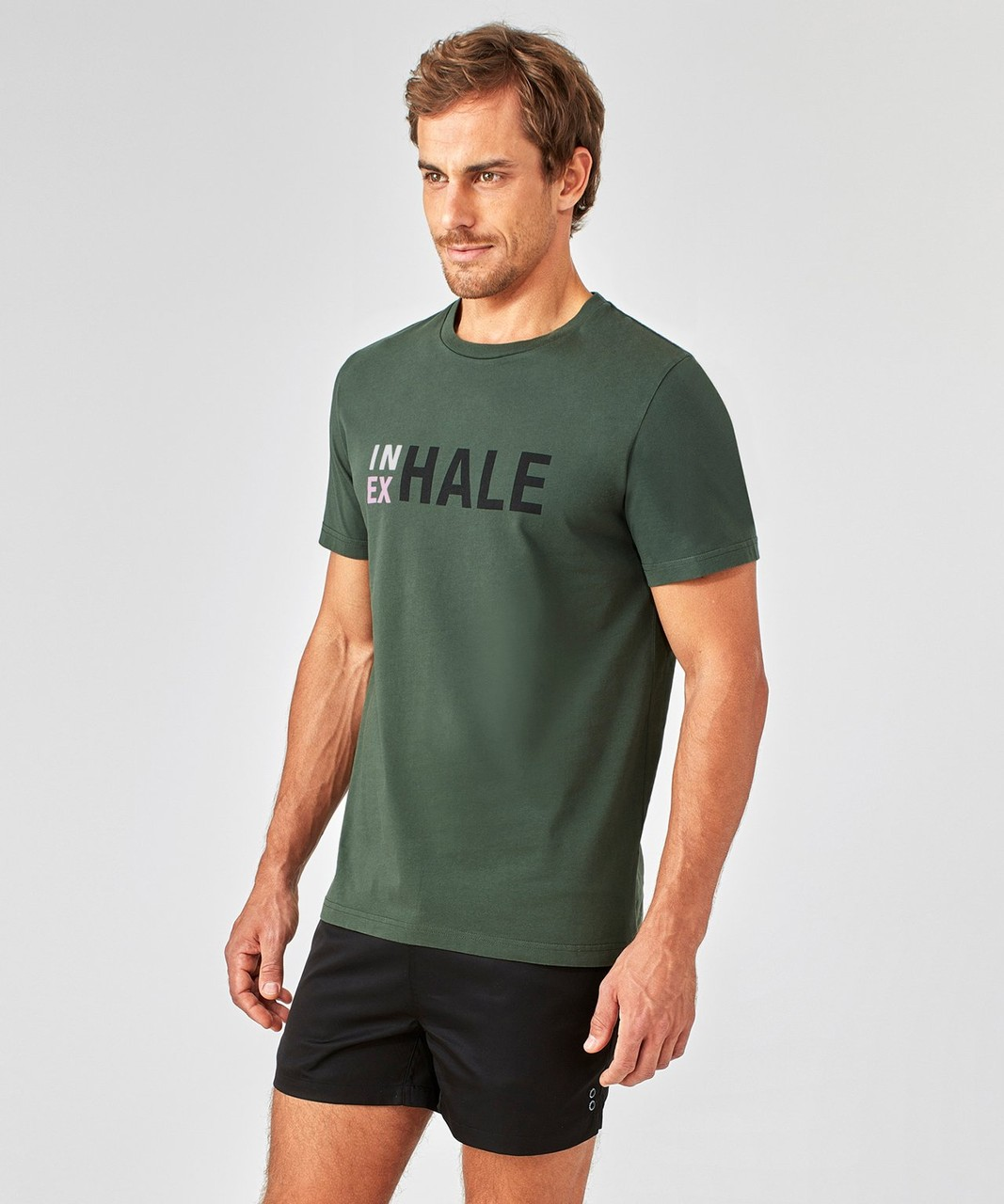 Ron Dorff T-shirt  IN(EX)HALE in Sergent Green