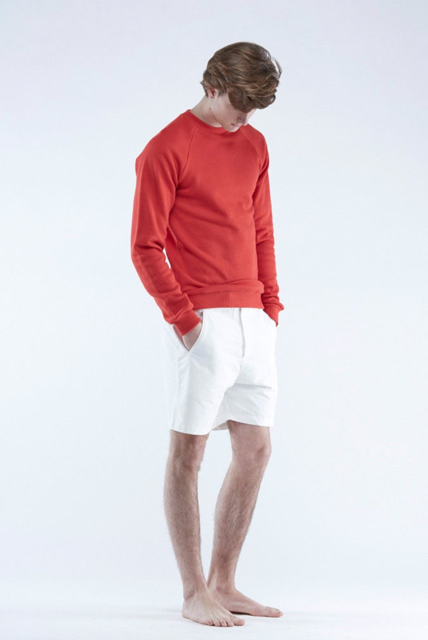 The White Briefs Champion Crew Neck Sweater Red