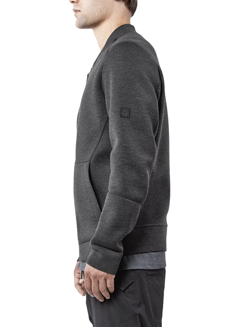 Isaora Seam Taped Tech Bomber Charcoal