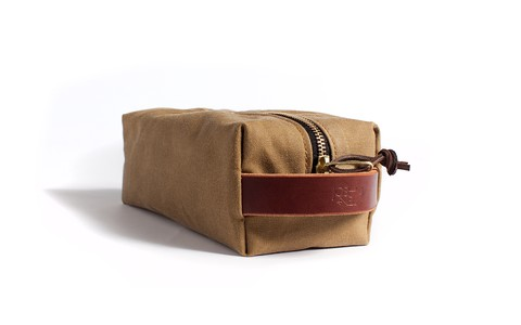 Dopp Kit: Safari Tan Wax Canvas